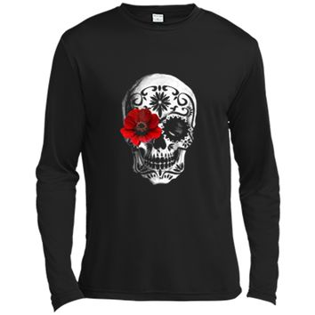 Day of the Dead Sugar skull Cinco de mayo Long Sleeve Moisture Absorbing Shirt