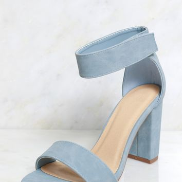 Feel The Heat Strappy Heel Blue
