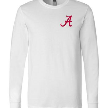 Official NCAA Venley University of Alabama Crimson Tide UA ROLL TIDE! Long Sleeve T-Shirt - 35AL-46