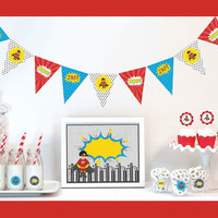 Super Hero Birthday Decoration Kit