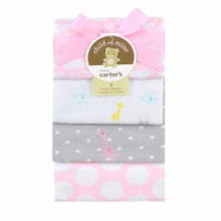 Walmart: Child of Mine by Carter's Love is in the Air 4-Pack Flannel Blankets