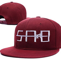 HAIHONG Sword Art Online Emblem Logo Adjustable Snapback Embroidery Hats Caps - Red