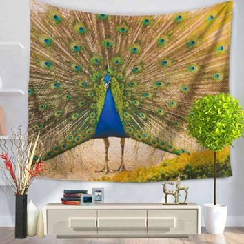 Peacock Printed Mandala Tapestry Indian Wall Hanging Tapestries Bohemian Beach Throw Hippie Blanket Towel Bedspread Table Cloth