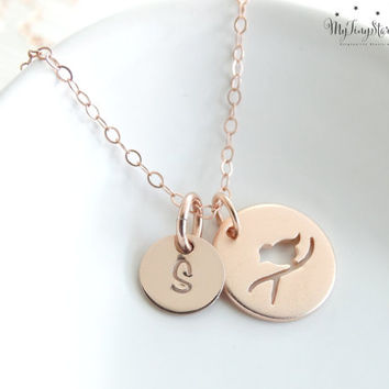 Rose Gold Bird Necklace Mother Daughter Jewelry Mother Daughter Necklace Set Gifts for Mom Daughter Gift Set mother daughter gift