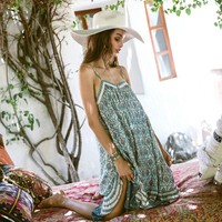 Hippie Boho Floral print summer dress
