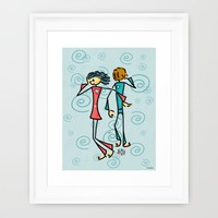 Broken Lovers Framed Art Print by Giuseppe Lentini