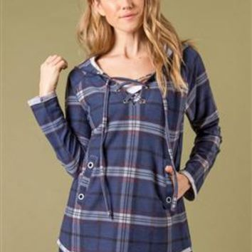 It All Plaids Up Top with Hood by Simply Noelle