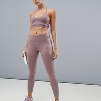 Nike Training Indy Light Bra In Smokey Mauve at asos.com