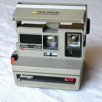 Polaroid Amigo 620 Land Camera - Film Tested - Vintage Instant Camera and Neck Strap