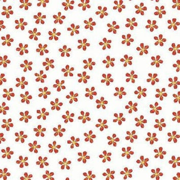 Fabric, Quilt Fabric, cotton fabric, fabric by the yard, quilting fabric, floral fabric, Quilting Treasures, orange, sewing, quilting