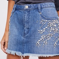 Free People Shine Bright Shine Far Mini Skirt