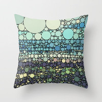 Beach Rounds Throw Pillow by Beth Thompson | Society6