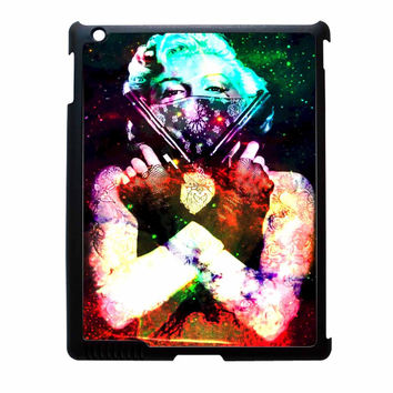 Marilyn Monroe Tattooed Flower With Pistol Gun Galaxy iPad 2 Case