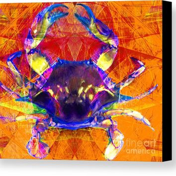 Blue Crab 20140206v2m160 Canvas Print