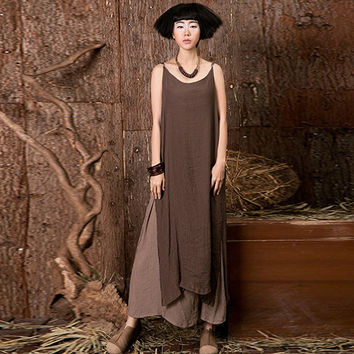 ZANZEA 2017 New Summer Strap Sleeveless Boho Linen Long Maxi Dress Women Casual Loose Vestidos Shirt Vintage Dresses Plus Size