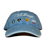Club Foreign Dad Hat In Denim