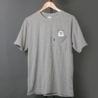 RIPNDIP Cotton Gray T Shirt