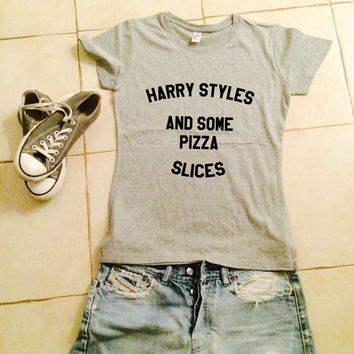 Harry styles and some pizza slices womens tshirts gifts cool fashion shirts girls fangirls dope swag bestfriends girlfriends cute tops