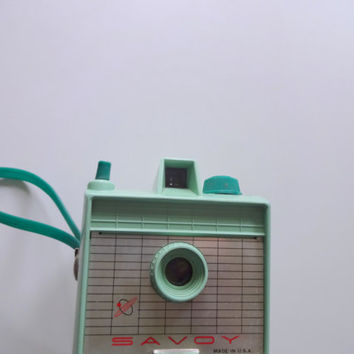 Vintage Mint Green Savoy Camera 1950s