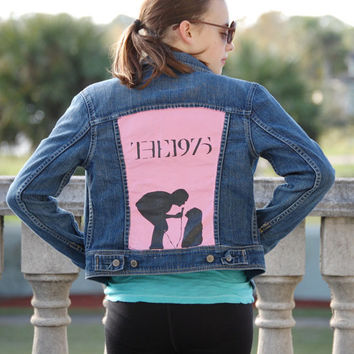 The 1975 Robbers Inspired Denim Jacket Hand Painted Version 2 (Fabric Paint)