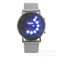 Round Blue LED Wrist Watch