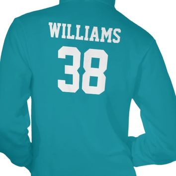 Teal and White School Spirit Personalized Team Tee Shirts