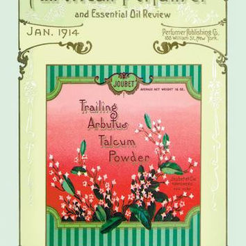 The American Perfumer and Essential Oil Review: Joubet Trailing Arbutus Talcum Powder 20x30 poster
