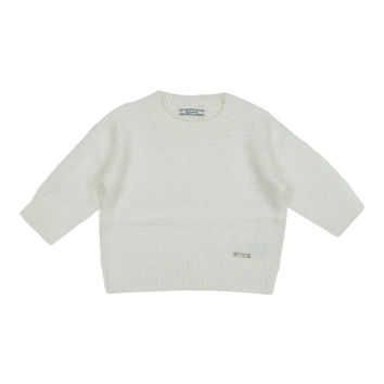 Mayoral Girls' Natural Short Fur Sweater