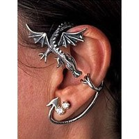 Classic Flying Dragon Ear Wrap Cuff Earring Gothic Earring Punk Rock Left Ear
