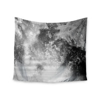 "Chelsea Victoria ""Black Ice"" Gray Black Wall Tapestry"