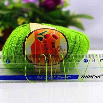500g Hot natural worsted wool sequins yarn fiber knitting yarn skein Thin crochet yarn for knitting thread