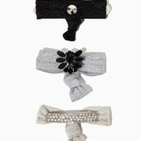Luxe Lady Hair Tie Set | Hair Accessories - Rock Luxe | charming charlie