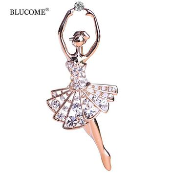 Ballet Dancer Ballerinas Brooches Women Girls Cachecol Hijab Pin Up Clips Scarf Hats Shoulder Corsages Bouquet Joias Ouro Bijoux