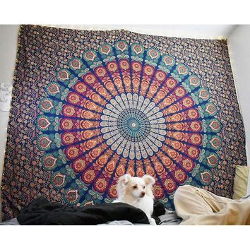 Wall Tapestry Indian Mandala Wall Decor Hanging Tapestry Carpet Beach Hippie Towel Bohemian Bedspread Blanket Table Cloth Yoga