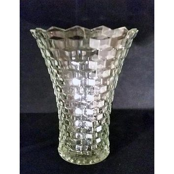 Indiana Glass Cubist Vase