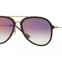 Kalete Ray Ban Sunglasses RB4298 6335/S5 Chocolate Frames Clear Violet Lens 57mm