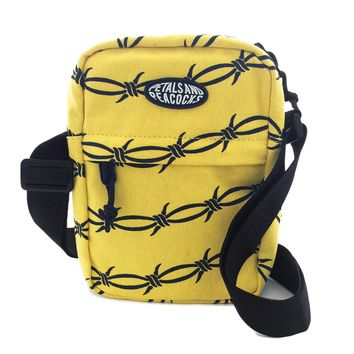 Barb Wire Shoulder Bag in Yellow