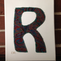 Initial R #2 Fabric Wall Art