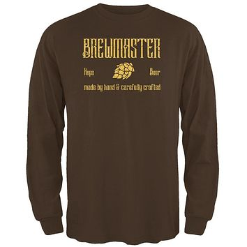 Brewmaster Beer Hops Hand Crafted Mens Long Sleeve T Shirt