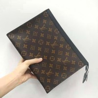 Louis Vuitton LV  Fashion Monogram Tartan Leather Women Handbag