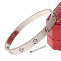 Cartier Woman Fashion LOVE Plated Bracelet For Best Gift-11