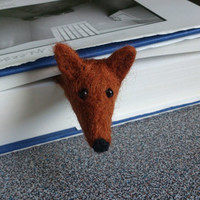 Needle felted bookmark fox by FeltedByRikke on Etsy