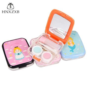 HNXZXB  Women Contact Lenses  Storage Box Cute Girl Contact lens Case Box Eyes Care Kit Holder Travel Washer Cleaner Container