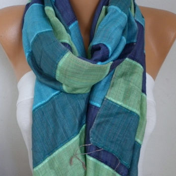 Blue Tones Silk Cotton Shawl Scarf,Fall Winter Scarf,Bohemian,Bridal,Wedding,Gift Ideas For Women,Christmas,Casual,Formal,women scarves