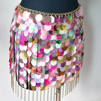 Under the Sea Sequin Chain Skirt