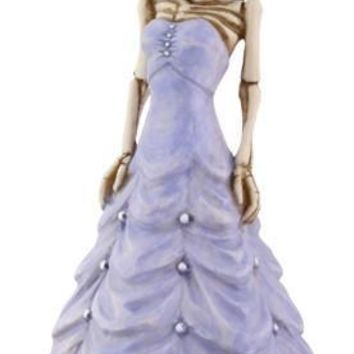 Quinceanera Girl Purple Dress Day of the Dead Skull Statue - T82220