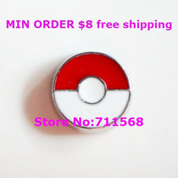 Pokemon Ball Locket Charm Nintendo Floating Charms For Living Glass Magnetic Locket Accessories