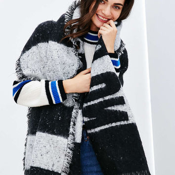 No Bad Days Brushed Blanket Open Poncho - Urban Outfitters
