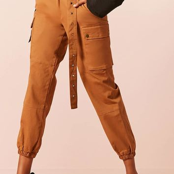 Buckled Cargo Joggers