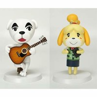 Animal Crossing Sofubi Series: Totakeke (K.K. Slider) & Shizue (Isabelle) Set